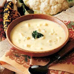 Cauliflower Cheddar Soup Recipe