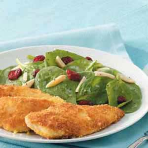 Cranberry-Almond Spinach Salad for Two