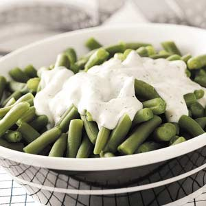 Green Beans with Dill Cream Sauce Recipe