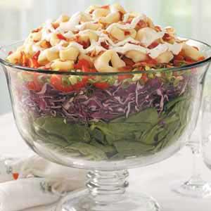 Layered Tortellini-Spinach Salad Recipe