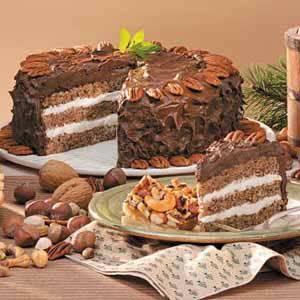 Mocha Nut Torte Recipe