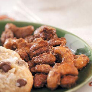 Caramel-Coated Spiced Nuts Recipe