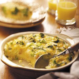 Broccoli Cheese Strata Recipe