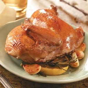 Garlic-Rosemary Cornish Hen Recipe