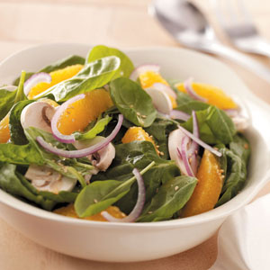 Orange Lime Spinach Salad Recipe