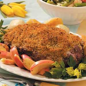 Crusty Roast Leg of Lamb Recipe