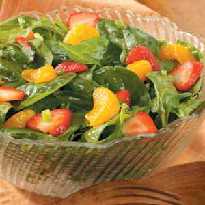 Spinach Salad with Red Currant Dressing Recipe