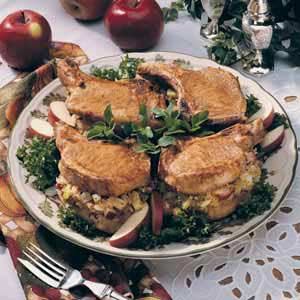 Pork Chops with Apple Stuffing Recipe
