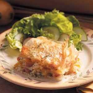 Ham-Potato Phyllo Bake Recipe