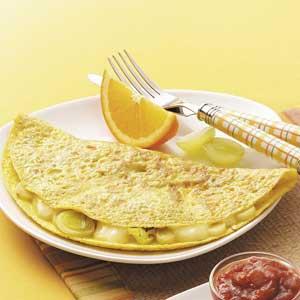 Leek 'n' Brie Omelet Recipe