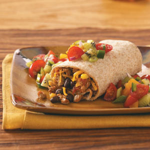 Turkey Burritos with Fresh Fruit Salsa Recipe