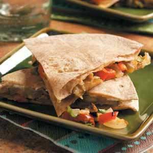 Goat Cheese 'n' Veggie Quesadillas Recipe