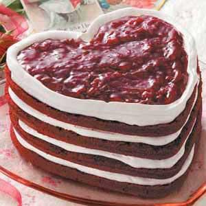 Red Velvet Heart Torte Recipe