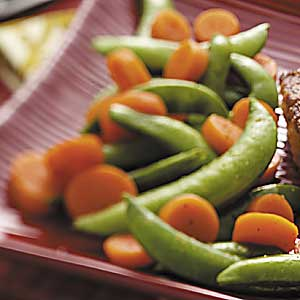 Carrots with Sugar Snap Peas Recipe