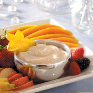 Spiced Sour Cream Dip (with fruit) Recipe