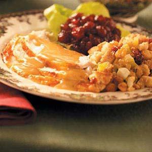 Turkey with Festive Fruit Stuffing Recipe