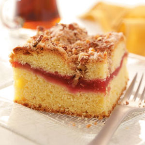Raspberry-Rhubarb Coffee Cake Recipe