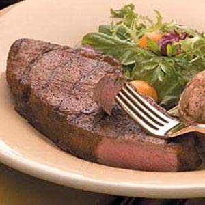 Planked Spicy Strip Steaks Recipe