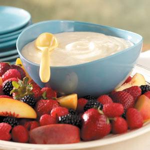 Luscious Lemon Fruit Dip Recipe