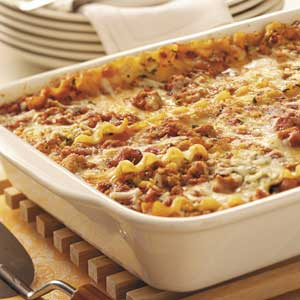 Simple Sausage Lasagna Recipe