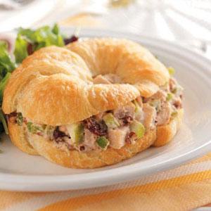 Cherry-Chicken Salad Croissants Recipe