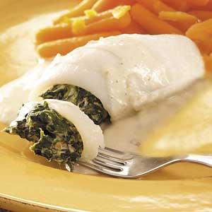Creamy Spinach Stuffed Flounder Recipe
