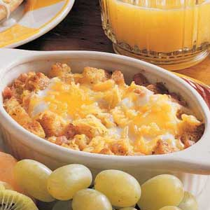 Baked Eggs and Ham Recipe