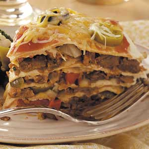 Vegetarian Tortilla Stack Recipe