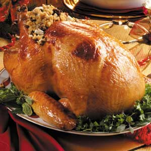 Barded Turkey with Corn Bread Stuffing Recipe