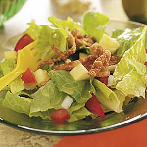 Tossed Salad with Wonton Strips Recipe