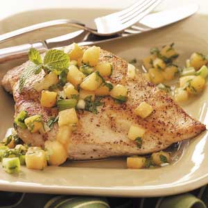 Chicken Breasts with Melon Relish Recipe