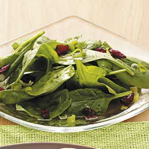 Quick Sweet-Sour Spinach Salad Recipe