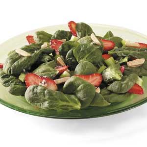 Strawberry Spinach Salad with Sesame-Poppy Seed Dressing Recipe