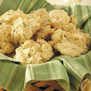 Green Onion Drop Biscuits Recipe