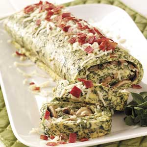 Spinach Omelet Brunch Roll Recipe