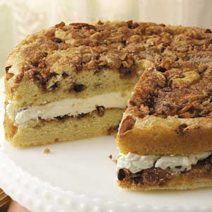 Cream-Filled Cinnamon Coffee Cake Recipe