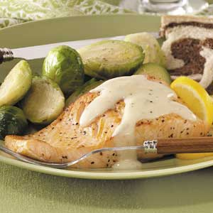 Salmon with Mornay Sauce Recipe