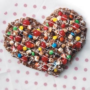 Chocolate Pizza Heart Recipe