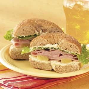 Ham and Swiss Bagels Recipe
