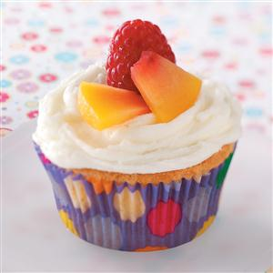 Raspberry Peach Cupcakes Recipe
