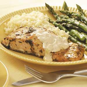 Grilled Salmon with Tartar Sauce Recipe