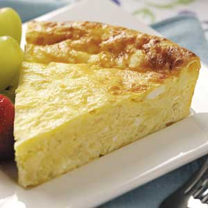 Crustless Four-Cheese Quiche Recipe