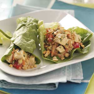 Thai Tofu Lettuce Wraps Recipe