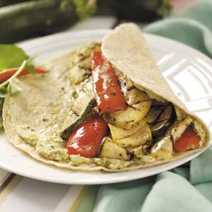 Grilled Veggie Tortilla Wraps Recipe