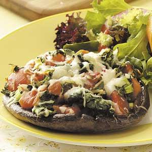 Spinach-Stuffed Portobellos Recipe