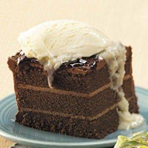 Chocolate Cake with Coconut Sauce Recipe