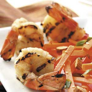 Grilled Lime-Teriyaki Shrimp