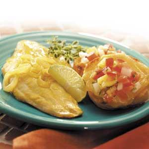 Grilled Fish with Bruschetta
