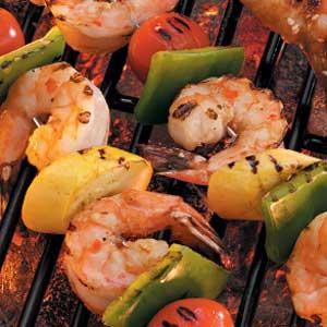 Shrimp and Vegetable Kabobs Recipe