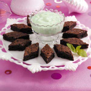 Mint Dip with Brownies Recipe